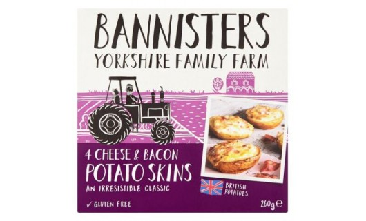 Bannisters Yorkshire 4 Cheese & Bacon Potato Skins