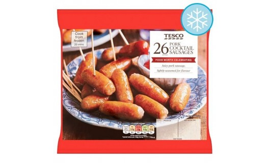 Tesco Pork Cocktail Sausages