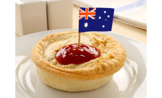 Aussie Pie with Grated Cheese
