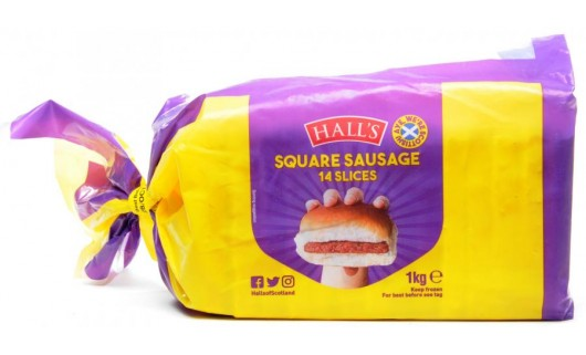 Halls 14 Slices Square Sausages 1kg