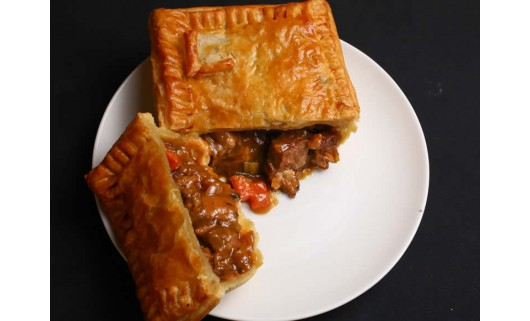 Lamb, Carrot, Onion, Leek & Rosemary Pie