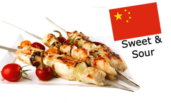 Chilled Marinated Chicken Skewers - Sweet and Sour