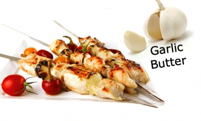 Chilled Marinated Chicken Skewers - Garlic Butter