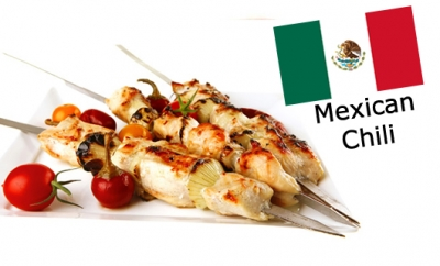 Chilled Marinated Chicken Skewers - Mexican Chili