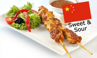 Chilled Marinated Chicken Satays - Sweet and Sour