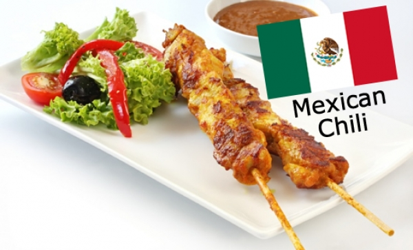 Chilled Marinated Chicken Satays - Mexican Chili